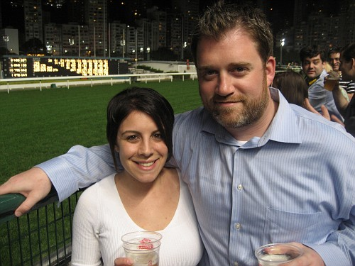 at Happy Valley Race Course in Hong Kong