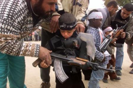 STARVING GAZANS learning how to kill Israelis
