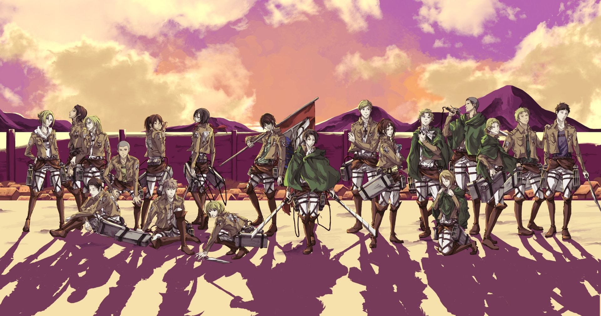 This wallpaper has been tagged with the following keywords: Attack On Titan Full HD Wallpaper and Background ...