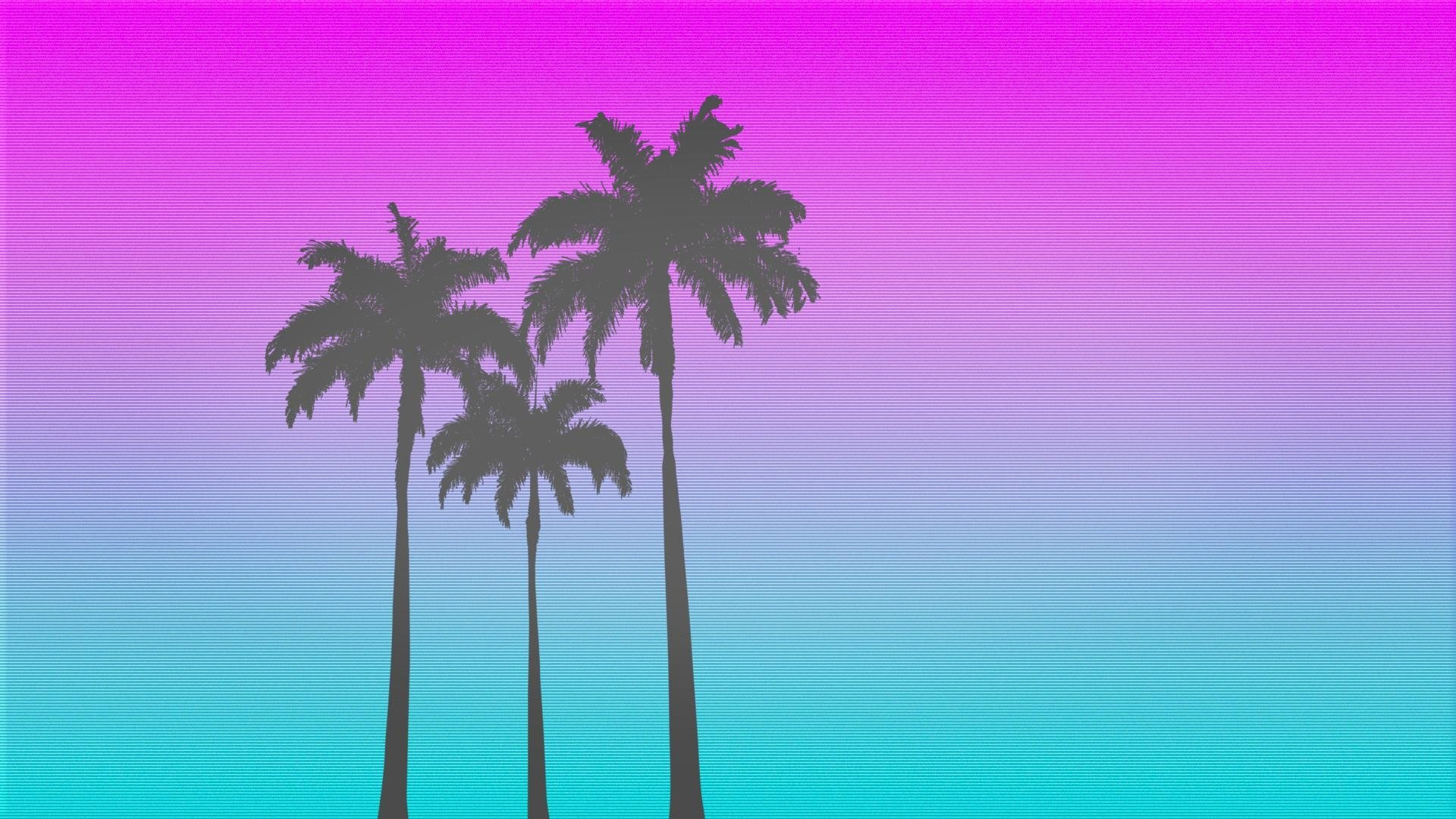 Background 80s Sunset Neon