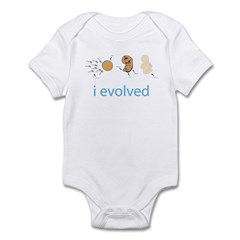 i evolved, sperm & egg to fetus to infant - the human species. Evolution art makes a great gift for science lovers. Evolution gifts. We all have tails, we just cant see them. Our tails desolved to