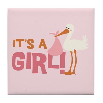 It's a Girl Tile Coaster