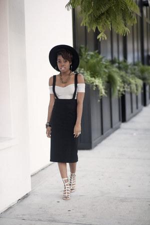 crop top asos top - suspender Moda Express skirt