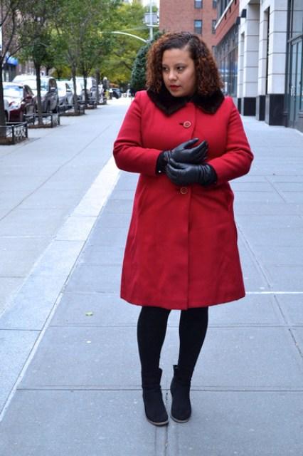 vintage coat - Old Navy boots - banana republic sweater - vintage gloves