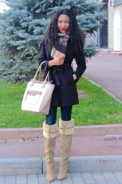 Image result for knee high boots with coat
