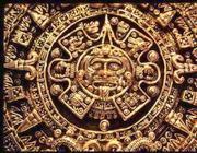Un particolare del calendario Maya