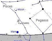 La posizione della cometa in cielo mercoledì 13 marzo (Nasa)
