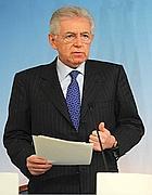Mario Monti al termine della riunione sulle proteste No Tav