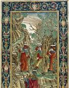 Un'immagine della Divina Commedia tratta da un incunabolo stampato presso Bonino de Boninis, Brescia 1487, con commenti di Landino