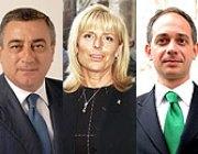 Il presidente della provincia di Napoli Luigi Cesaro, della provincia di Asti Maria Teresa Armosino e della provincia di Biella Roberto Simonetti