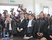 Il processo alla commissione Grandi Rischi (Fotogramma/D'Antonio)