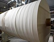 Le bobine di riconversione della parte cellulosica delle confezioni di Tetra Pak (da Lucart)