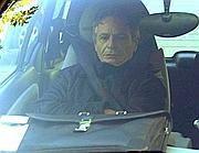 Giuseppe Mussari all'arrivo in procura (Ansa)