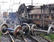 Uno dei treni coinvolti nell'incendio del 29 giugno 2009 scoppiato dopo il deragliamento di un treno merci carico di gpl, alla stazione di Viareggio