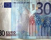 La falsa banconota da 30 euro