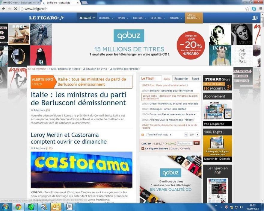 Prima notizia per Le Figaro