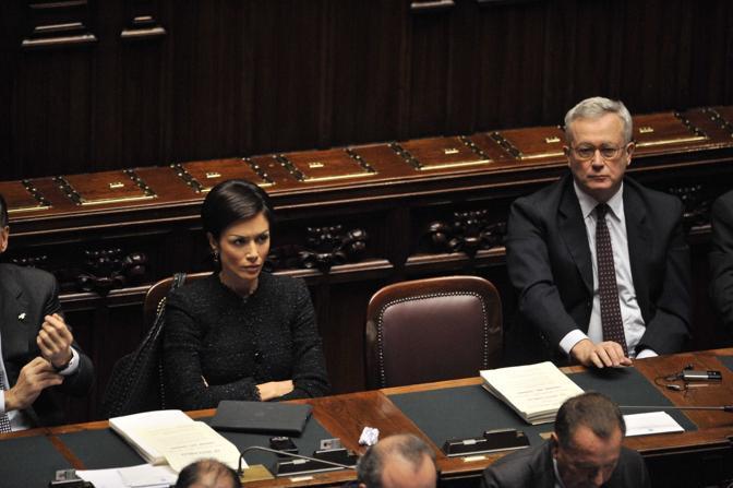 Mara Carfagna e Giulio Tremonti (Liverani)
