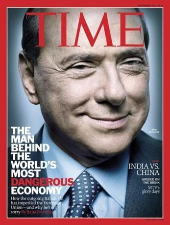 Il 21 novembre 2011 il settimanale dedica la copertina a Berlusconi con il titolo «L'uomo dietro  'economia più pericolosa al mondo»