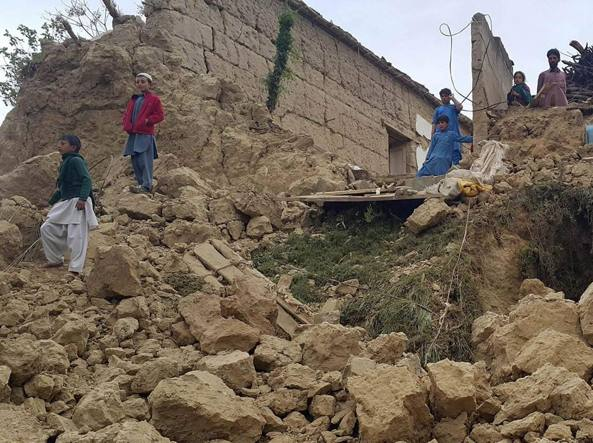 I crolli nella regione del Bajaur (Epa)