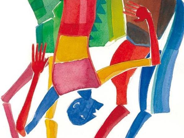 Un'illustrazione di Mimmo Paladino dedicata al Don Chisciotte di Cervantes