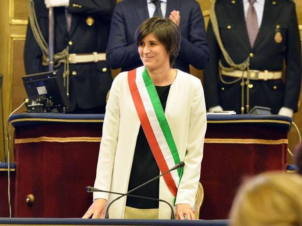 La sindaca Chiara Appendino lunedì in consiglio comunale (Ansa)