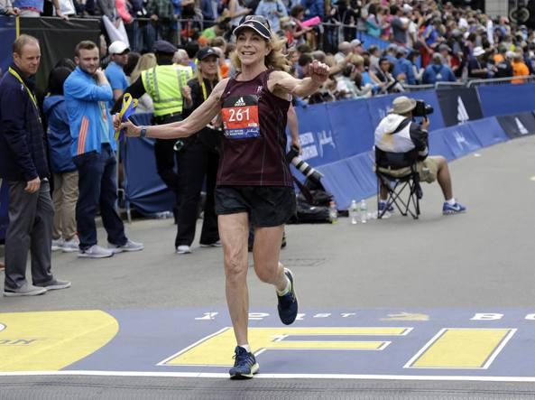 Kathrine Switzer alla maratona di Boston 2017
