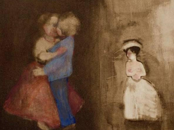 Ellen Phelan (1943), A Doll, Her Story (The Kiss: Betrayal) (1995, tecnica mista), courtesy dell'artista