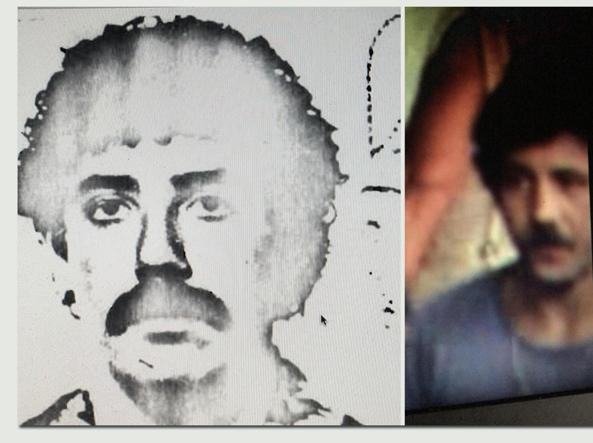 A mug shot (left) and a still image (right) of Paolo Bellini, a former national avant-garde (Ansa)