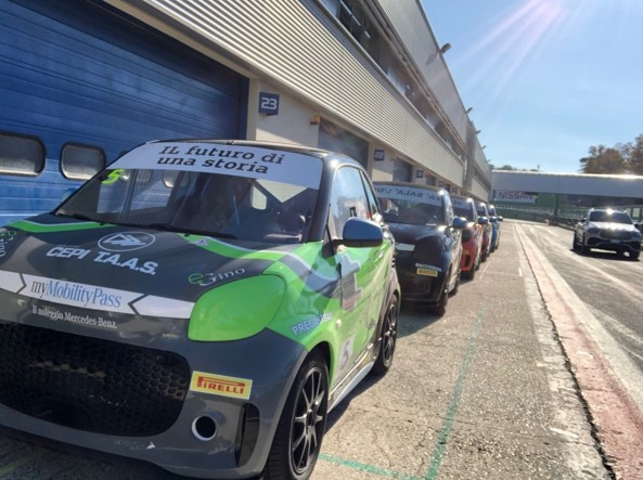 The electric racing Smart EQ fortwo, used in the 2020 Smart E-Cup championship