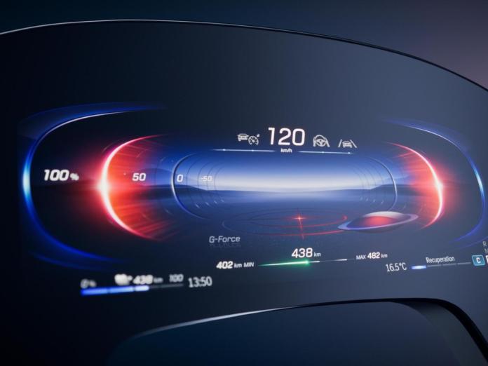 मर्सिडीज हाइपरस्क्रीन: कार के पूरे डैशबोर्ड पर कब्जा कर लेता है और
