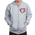 PIECE OF MY HEART Zip Hoodie