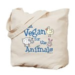 Vegan for Animals Tote Bag