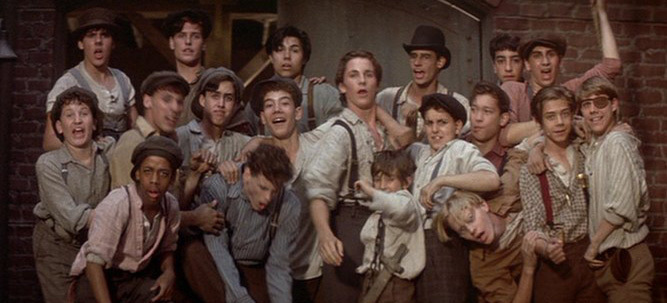 "A promotion still from the movie ""Newsies"""