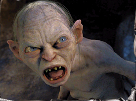 Image result for gollum angry