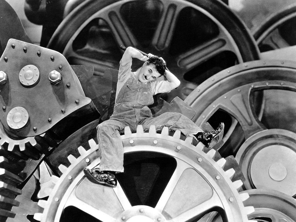 Charlie Chaplin, in 'Modern Times'