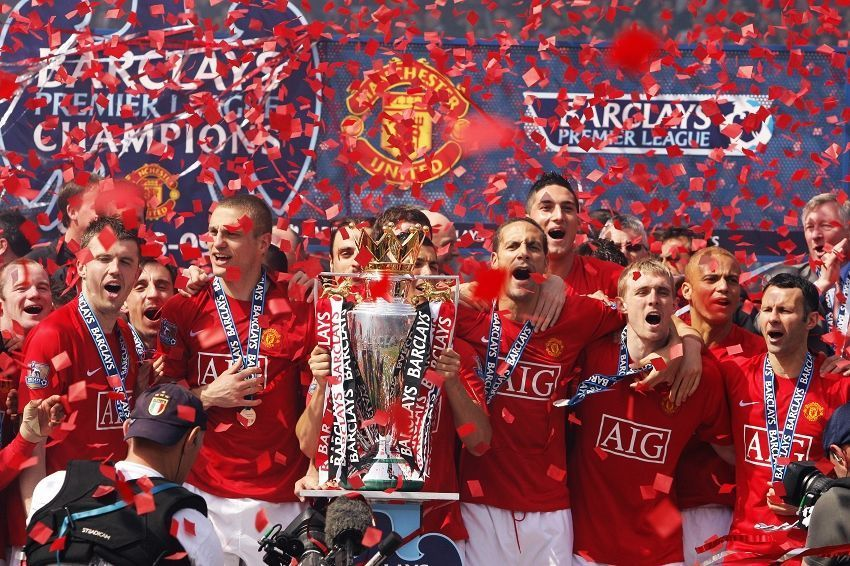 They'll now look to push on and challenge for europe and a cup. Premier League Champions 08/09 - Manchester United Photo