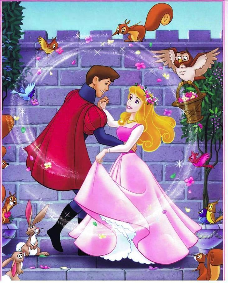 Prince Philip and Aurora Cartoon Disney