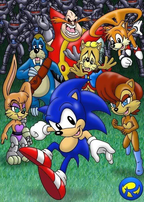 Sally Acorn And Roboticized Sonic