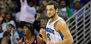 Marco Belinelli, 25 anni, 16 punti contro i Blazers. Reuters