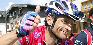 Michele Scarponi, vincitore del Trentino 2011. Bettini