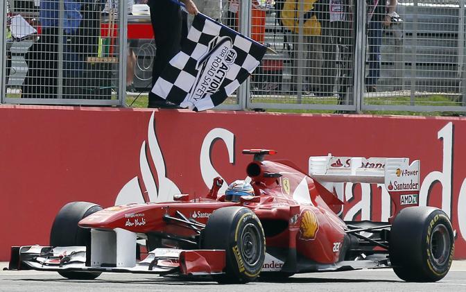 Alonso gioisce per la prima vittoria stagionale. (GazSport)