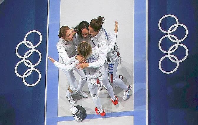 Il vero Dream Team ce l'ha l'Italia: è la squadra di fioretto femminile, oro ai Giochi di Londra. Reuters