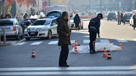 Un incidente mortale a Milano. Fotogramma