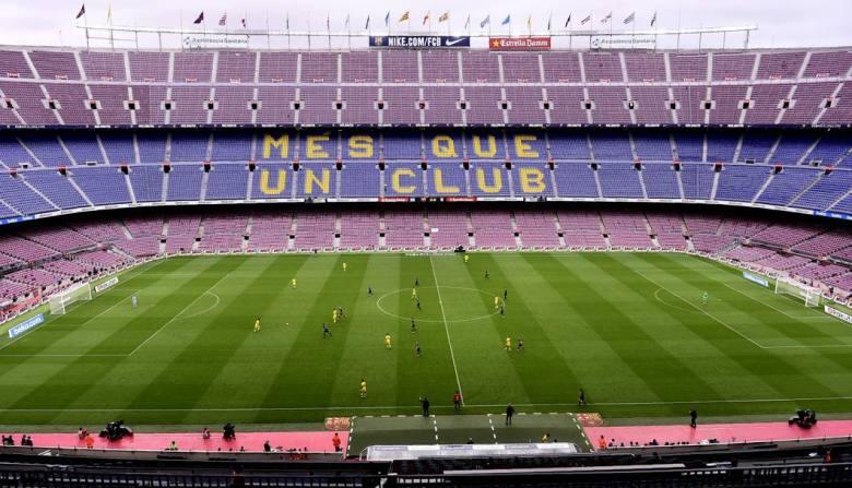 Il Camp Nou di Barcellona deserto in segno di protesta durante la partita tra Barcellona e Las Palmas. Foto: AP.