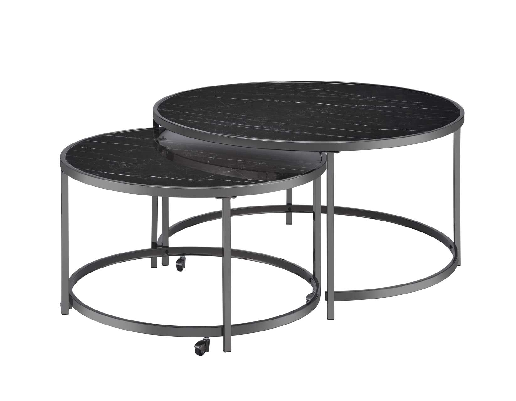 Steve Silver Rayne Nesting Cocktail Table Black Ry300ncb In Elyria Olmsted Kaplan S Furniture