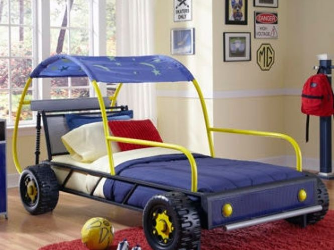 Powell Furniture Youth Dune Buggy Car Twin Bed 904 038 At Rus S Fine