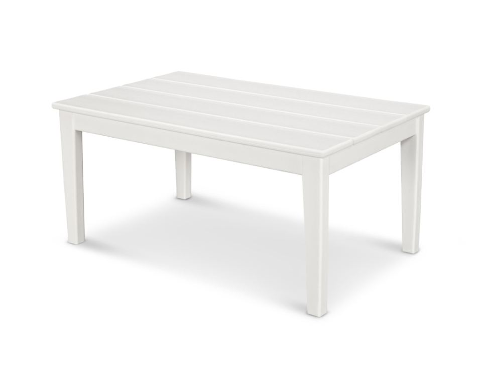 newport 22 x 36 coffee table in white