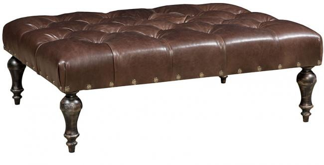 King Hickory Living Room Turkish Leather Ottoman W 016 3648 L Brownlees Furniture