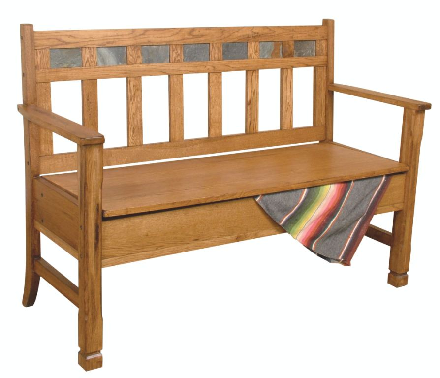 Sunny Designs Living Room Sedona Bench With Storage/Wooden