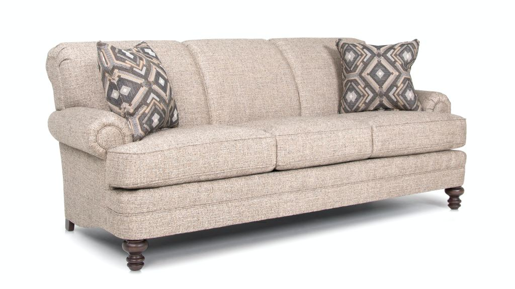 Smith Brothers Living Room Three Cushion Sofa 346 10 Whitley Furniture Galleries Raleigh NC